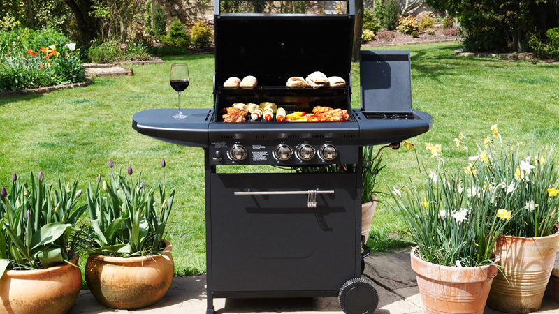 cucina mobile bbq gas